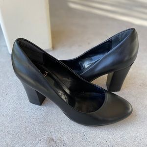 Black Leather Isola Pumps Size 7, Very Clean